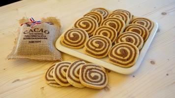 Fursecuri spirala cu unt si cacao