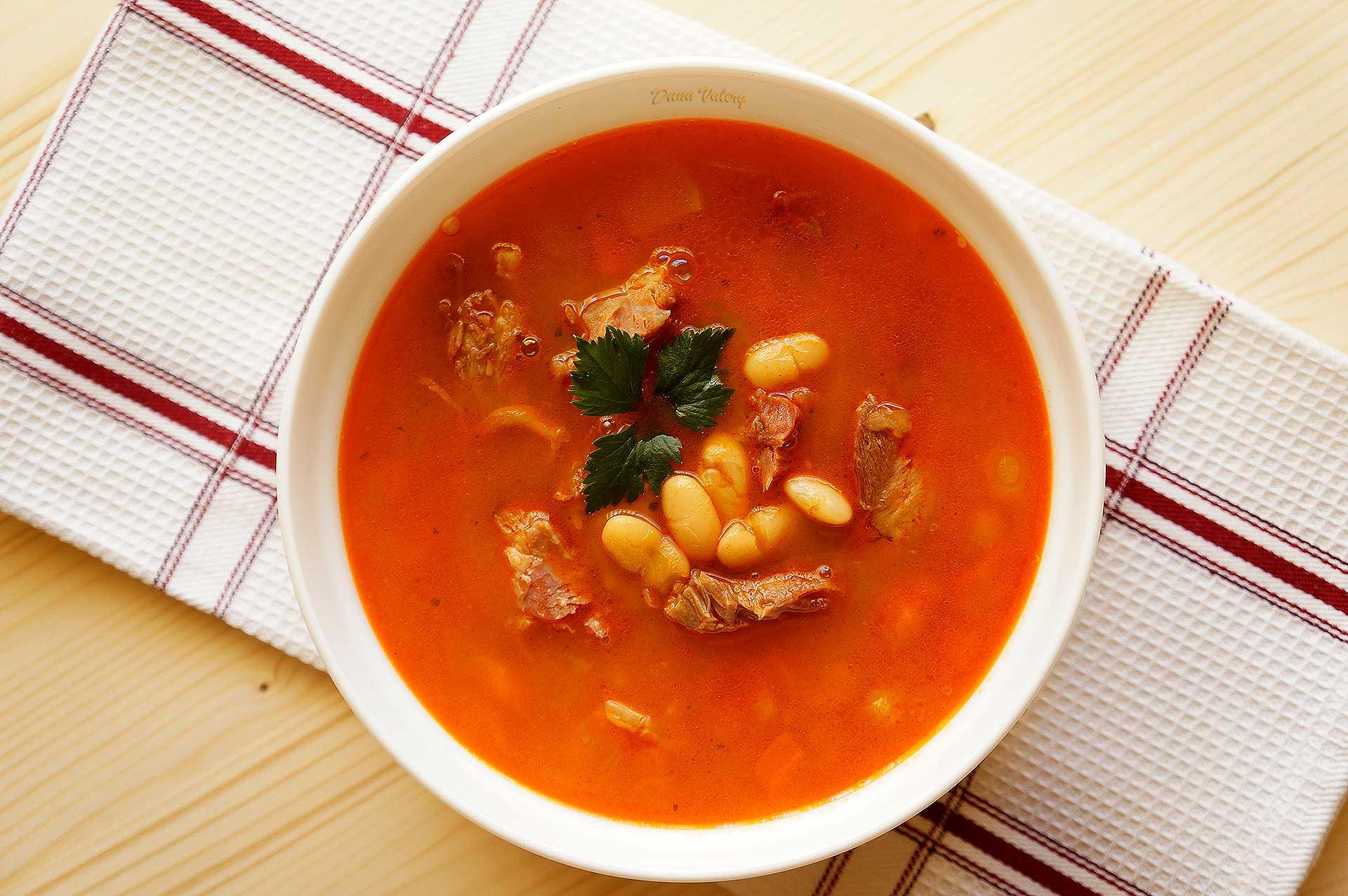 Ciorba De Fasole Boabe Cu Afumatura Si Rantas Retete Culinare Cu Dana Valery