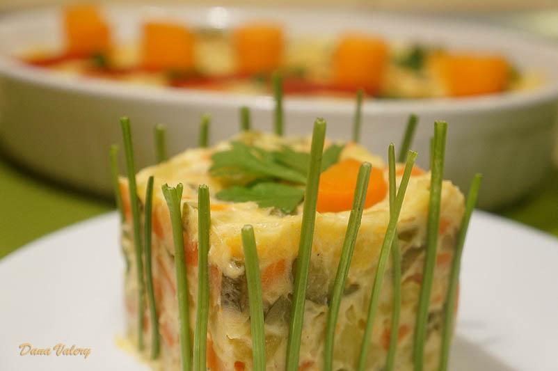 Salata a la Russe, cu legume si maioneza
