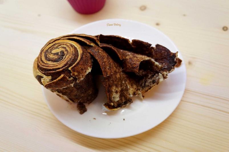 Cruffins - croissant cu crema de ciocolata