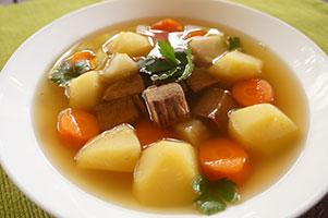 Supa de vita cu legume, reteta simpla